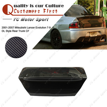Car Accessories Carbon Fiber DL Style Rear Trunk Fit For 2001-2007 Evolution 7-9 EVO 7 8 9 Rear Boot Lid Tailgate Cover