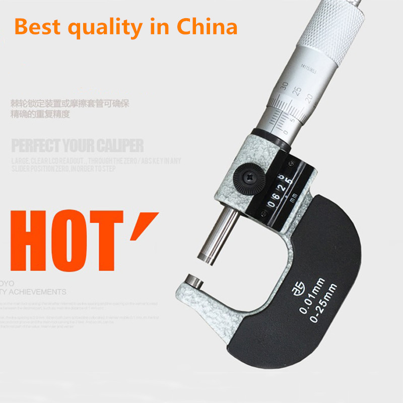 Xibei brand best quality 0 25mm x 0 01mm micrometer with counter outside micrometer thickness gauge