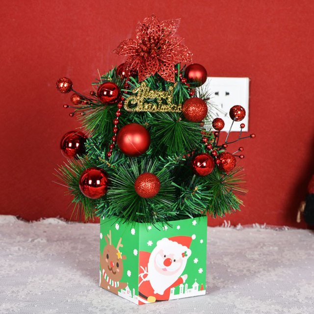30cm diy christmas tree festival table decoration party showcase office ornament kids gifts xmas decor base - Diy Christmas Decorations For Office Desk
