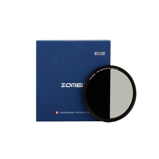 ZOMEI ABS אופטי זכוכית CPL דק רב מצופה עגול מקטב קיטוב HD עדשת מסנן עבור DSLR עדשת 49/ 52/58/67/72/77/82mm