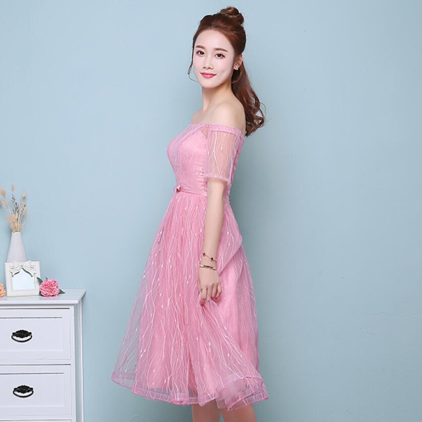 Precio barato 6 Estilos Pink Dama de Honor Vestidos de Boda de la ...