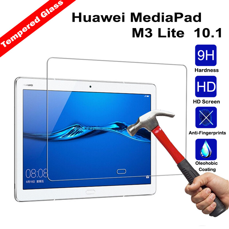 XSKEMP 9H Hardness Arc 2.5D Explosion Proof Tempered Glass Film For 10.1 Huawei MediaPad M3 Lite Tablet PC Screen Protect Cover