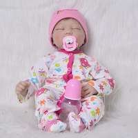 bebes reborn DollMai Brand 22silicone reborn baby dolls kids gift soft touch real true looking newborn babies reborn toys