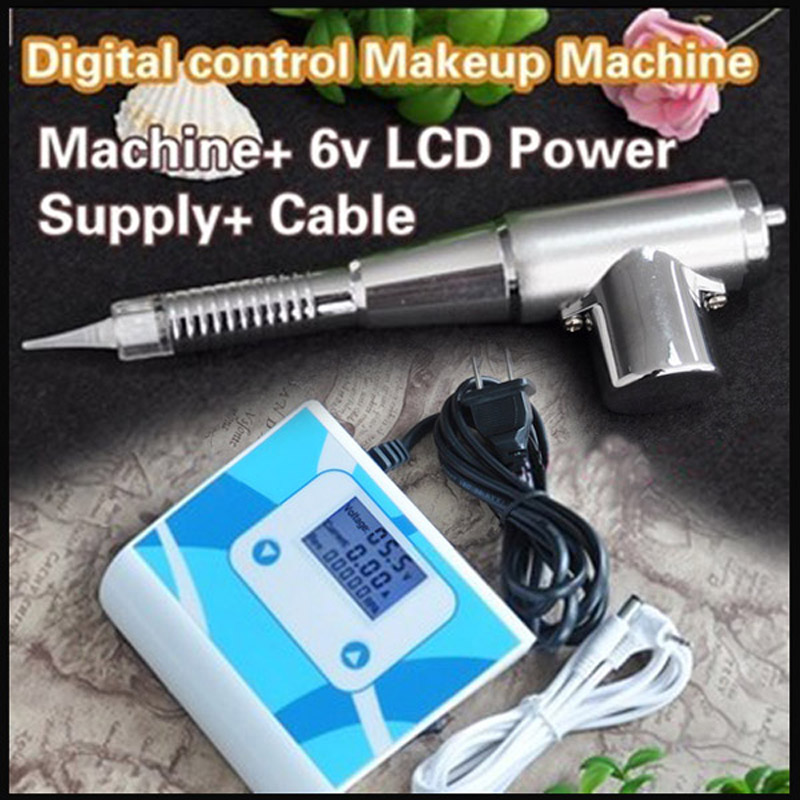 35000M Best Tattoo Eyebrow Lip Pen Permanent Makeup Machine With LCD Power Supply best makeup pen machine eyebrow make up