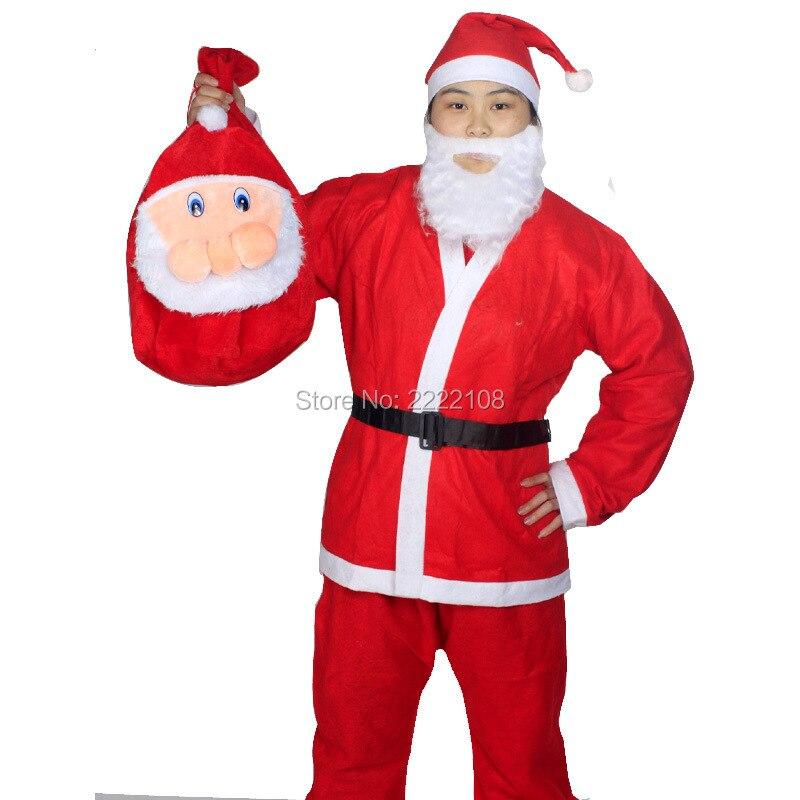 barato traje de navidad rojo de navidad de santa claus traje de la mochila para adultos