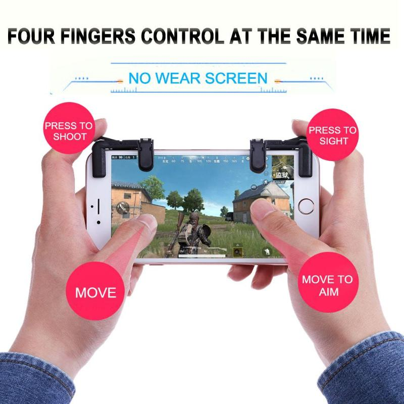 2pcs Mobile Phone Game Physical Joysticks Game Controller Assist Tools Shooting Games Accessories for STG FPS TPS Games Button
