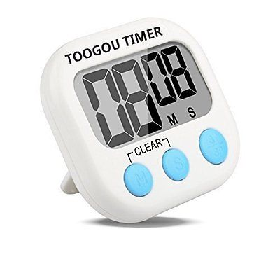 1PCS Large LCD Digital Timer Loud Alarm Magnetic Kitchen Cooking Count-Down Up