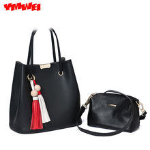 YMWEI 2016 new fashionable ladies' bag pu leather bucket bag handbag shoulder aslant bags wholesale