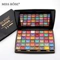 Miss Rose 3D de 48 Colores Paleta de Sombra de ojos Tierra Mate Superficie Convexa Polvo Húmedo Polvo de Perla Brillo Sombra de Ojos Cosméticos de Maquillaje