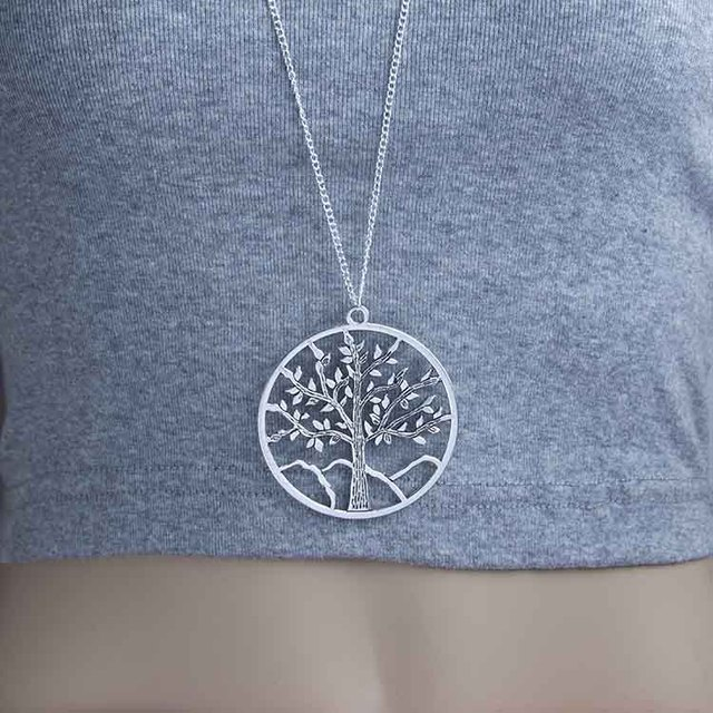 Ladies new simple necklace round delicate small tree pendants ladies new simple necklace round delicate small tree pendants foreign trade new western wind boutique xl7358 mozeypictures Image collections