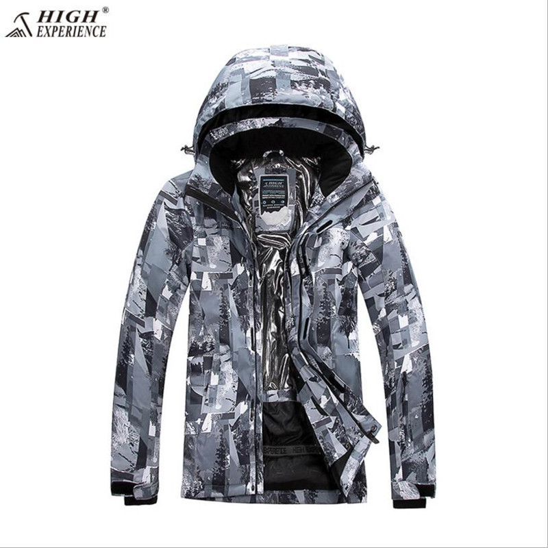 High Experience Men Ski Jacket Outdoor Sport Wear Skiing Snowboard Clothing Waterproof Windproof Thermal Thicken Male Coat New 2018 gsou snow women ski jacket windproof waterproof snowboard jacket skiing clothing outdoor sport wear thermal female jacket