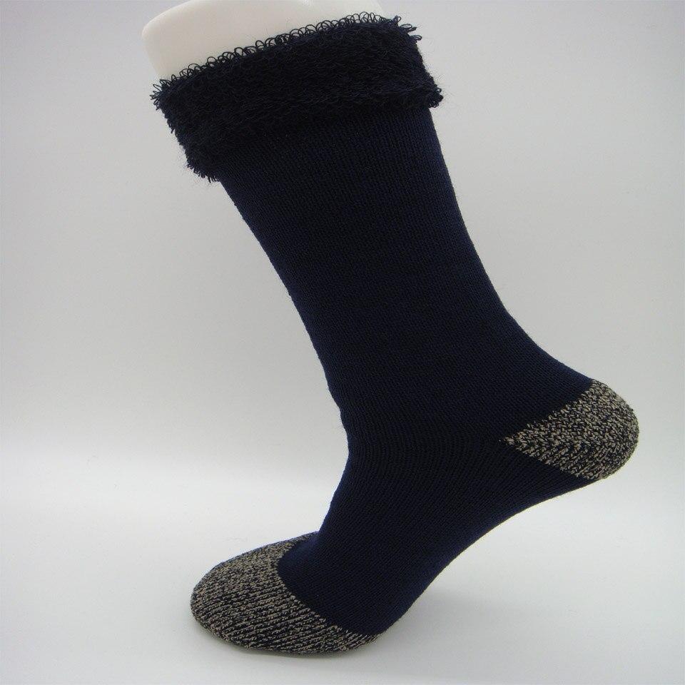Zcela nové pánské vlněné ponožky Super silné a teplé termální vlněné ponožky Teplé posádkové podušky vlněné ponožky pro zimní S0013