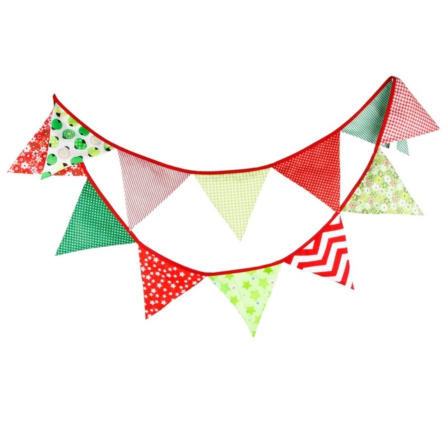 Cotton Banner Flag Christmas Streamers Confetti Hang Pennants Party ...