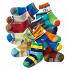24 pieces/lot=12 pair Cotton Baby Socks Newborn Floor Socks Girl and Boy Short Socks