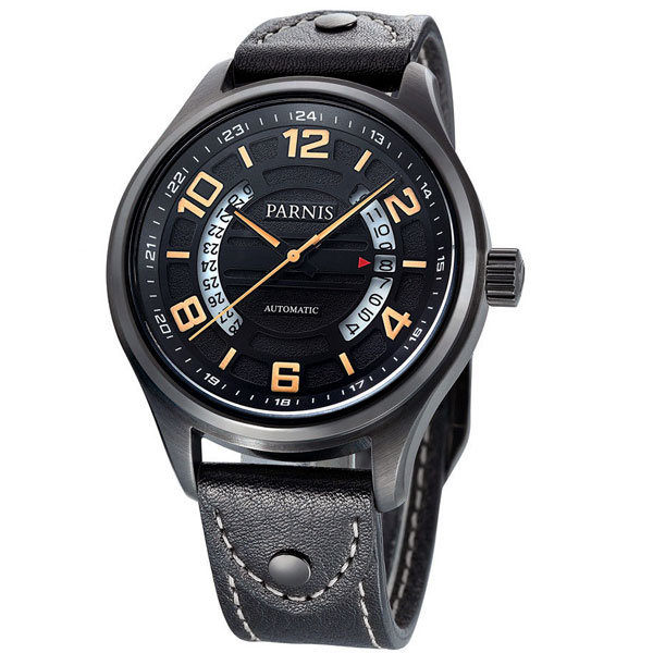 New Hot 43mm Parnis Black Dial PVD Case Luxury Brand Sapphire Glass miyota Automatic Movement mens WatchNew Hot 43mm Parnis Black Dial PVD Case Luxury Brand Sapphire Glass miyota Automatic Movement mens Watch
