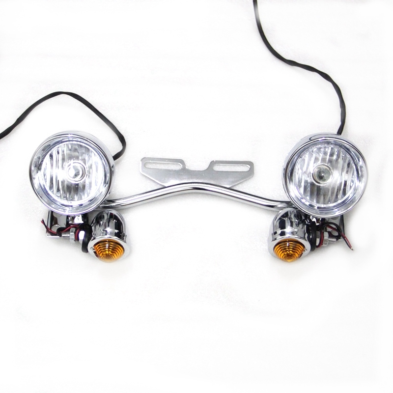 Chrome Motorcycle DC12V ABS Turn Signal Lights Bullet