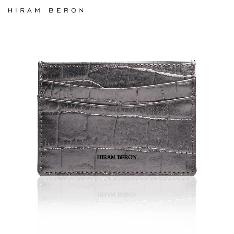 6905214923a Hiram Beron CUSTOM NAME SERVICE card holder wallet designer branded luxury  case Italian cow leather embossed