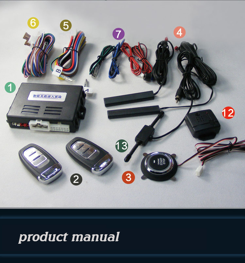 Good use Car Alarm System PKE On/Off By Remote Control Passive Keyless Entry And Push Button Start/Stop Remote Engine Start