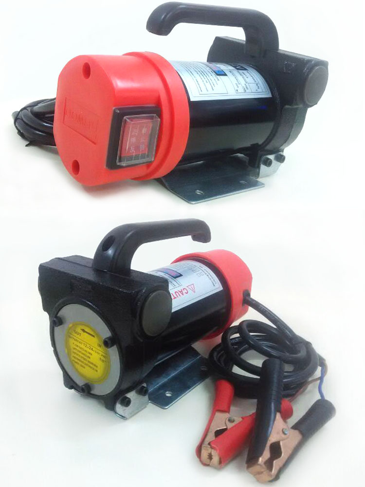 Pompe auto-amorçante de cc de voiture portative de 12 V/24 V, kit électrique de pompe diesel, pour l'usage temporaire du dispositif d'alimentation en carburant