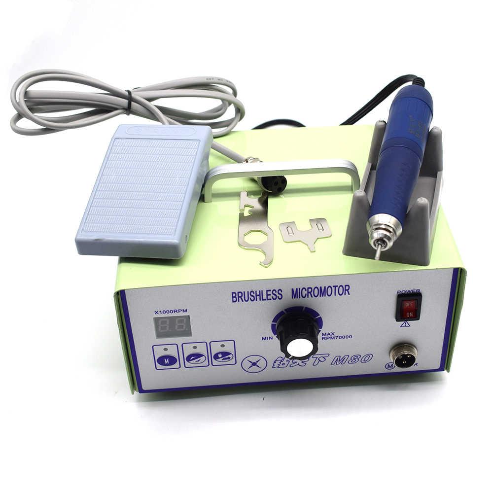 Высокая скорость 70000 об/мин бесщеточный новый дизайн стоматологический микромотор полировальный блок с наконечник для лаборатории ювелирной гравировки микромотор