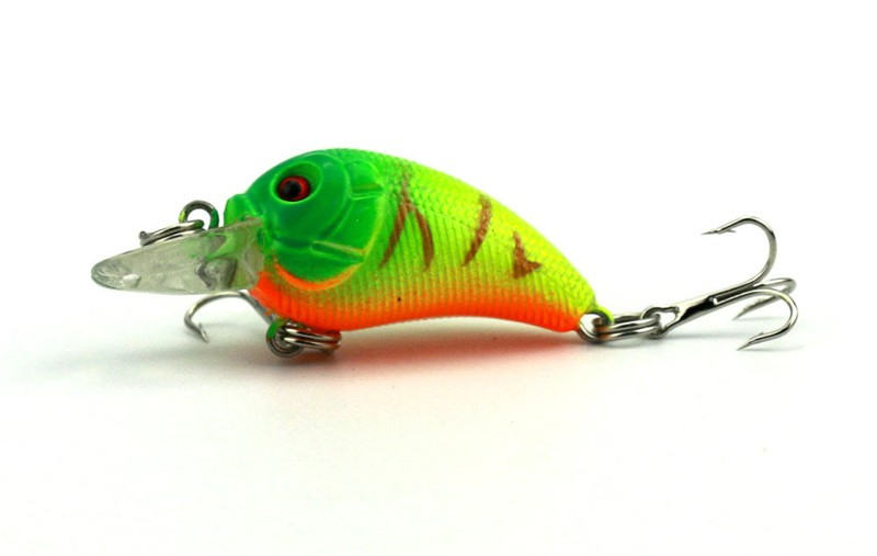 1x 4.5cm 4.2g Mini Fishing Lures Crank Baits 3d Fish Eye Simulation Minnow Crankbait Hard Plastic Laser Lure Bait Low Price (6)