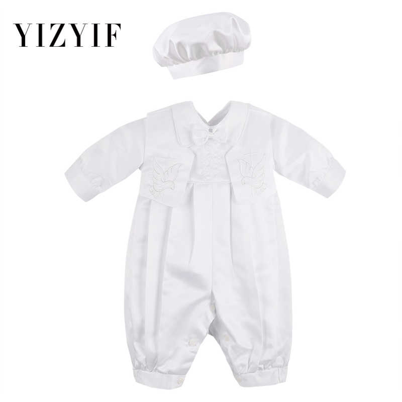 68a157cc2b43 YiZYiF Baby Boys Romper Clothes Body Suits For Boys Long Sleeve Romper with  Vest and Hat