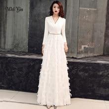 74b5c098320d85 Wei yin 2019 Witte Avondjurken Elegante Kant Avondjurken Lange Formele  Avondjurk Stijlen Vrouwen Prom Party Jurken