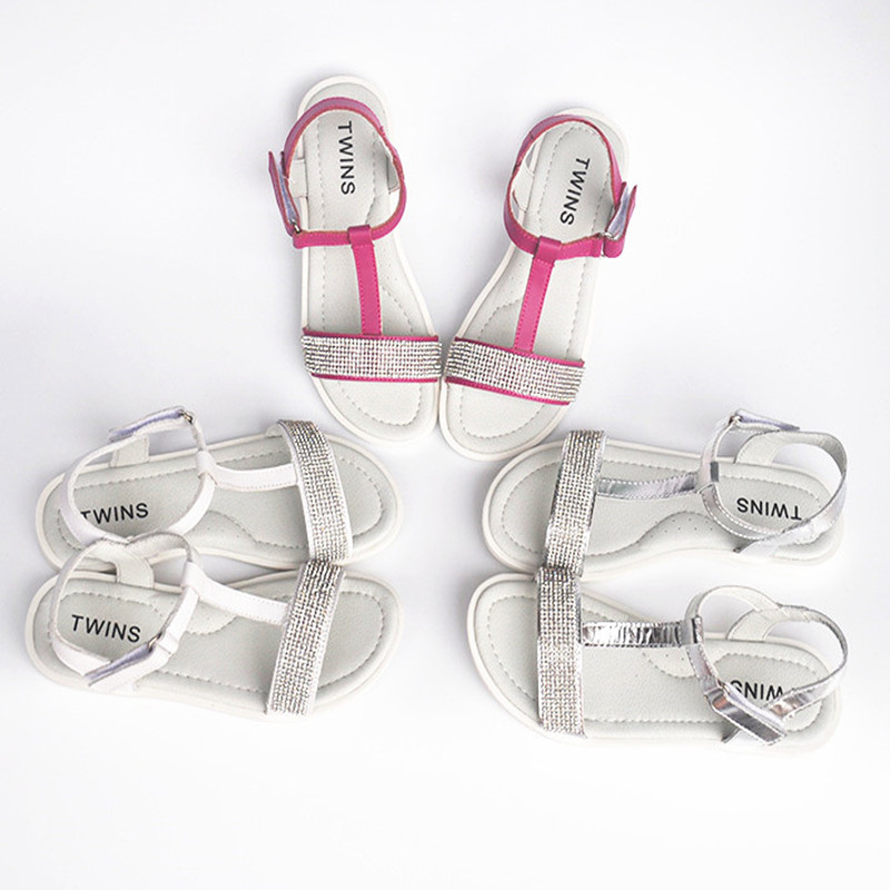 2018 NEW super quality Kid Sandals Orthopedic 1pair summer Genuine Leather Sandals Children girl shoes+inner 19.5-23.8cm,