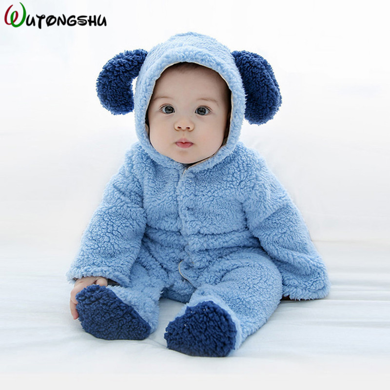 Newborn Baby Rompers Winter Warm Cartoon Baby Clothes Infant Girl Boy Jumpsuits Kids Baby Outfits Clothes Cute Baby Costume Gift цена