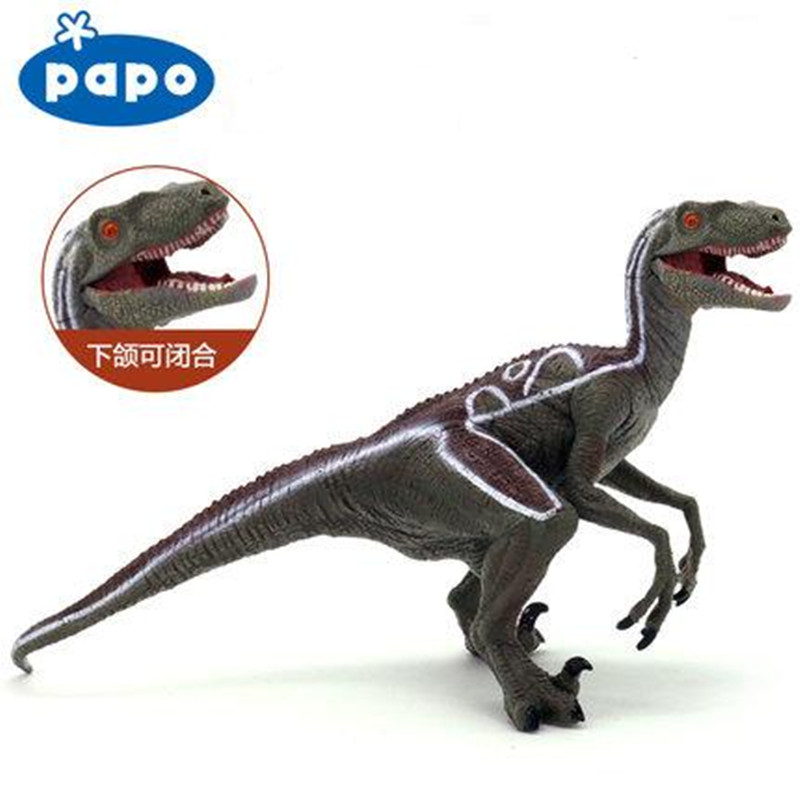 Brand Papo Resin Velociraptor Dinosaur Model Simulation Mouse Movable Garage Kid Children Toys Collection Adult Action Figures brand papo animals decoration animal owl bird resin model puppets kids toy action figure doll adult children study safe toys