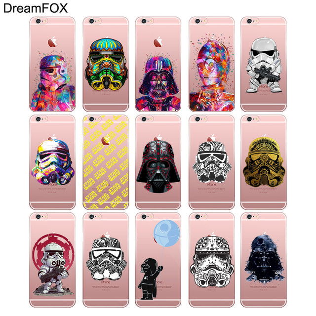 Star Wars TPU Soft Silicone Cover Case For Apple iPhone (17 Styles)