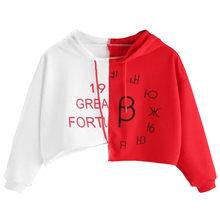 Promoción de White Sweatshirt Red Letter Compra White