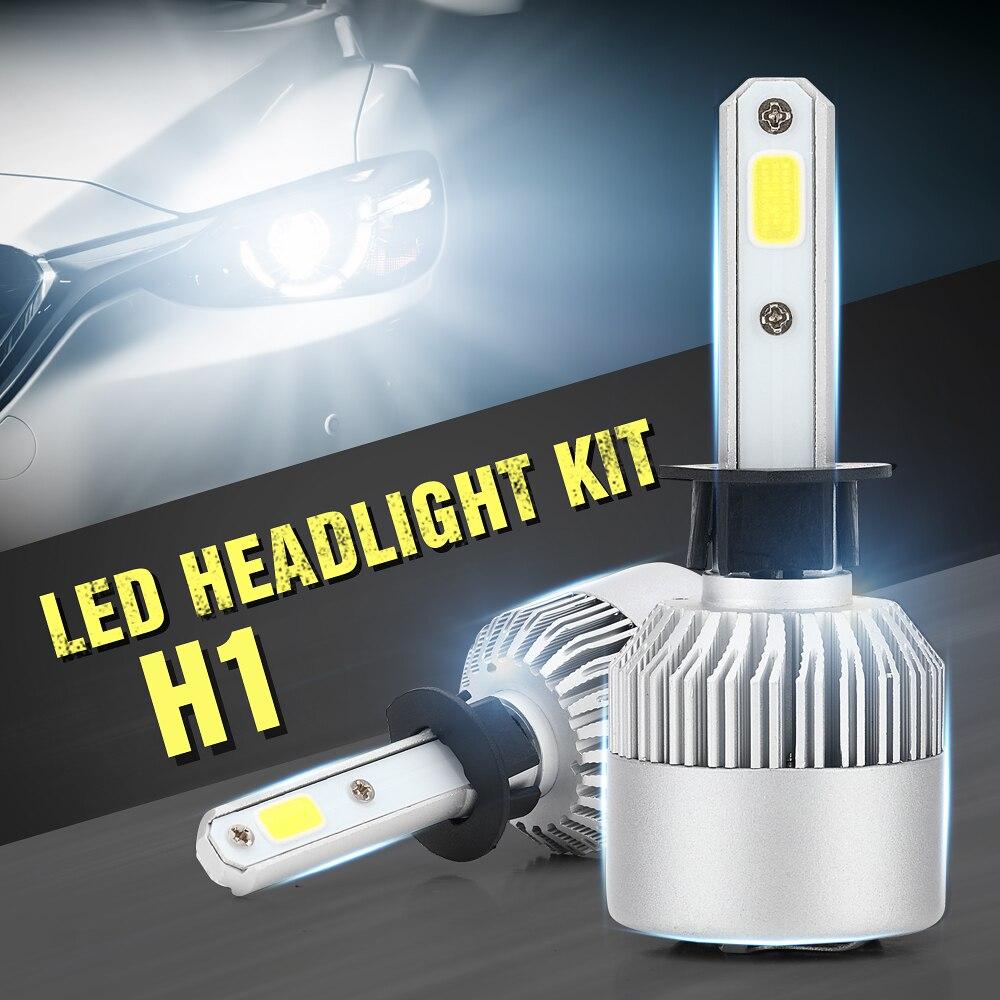 Eurs 2 шт. супер яркий H1 Светодиодная лампа 80 Вт 8000Lm автомобилей светодиодные фары <font><b>H4</b></font> H7 H8 H11 HB3 9005 HB4 12 В Авто Мото лампа <font><b>S2</b></font>