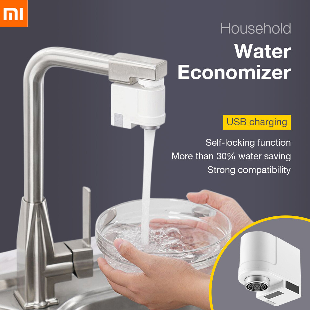 Nozzle-Tap Smart-Faucet-Sensor Water-Saver Induction Kitchen Xiaomi Infrared Overflow