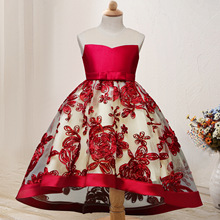 2019 Summer Girls Dress Wedding Party Kids Princess for  Costume Floral Elegant Vestido