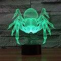 Monstruo de dibujos animados Araña 3D Lámpara de La DECORACIÓN Luz de La Noche Creativa Colores Chaning Fresco Lámpara de Luz Ambiente Navideño Como la Decoración Del Hogar