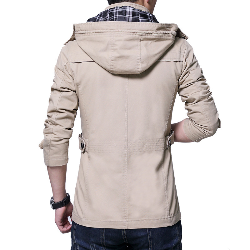 5ddb6e6bf0b 2018 Men Windshield Cargo Jackets Spring Autumn Hooded Man Windbreaker  Casual Plus Size Male Cool Warm Coat Men Outwears YN10329-in Jackets from  Men s ...