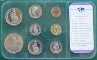 Switzerland 8pieces/ Set UNC original Coin Not circulated Plastic package
