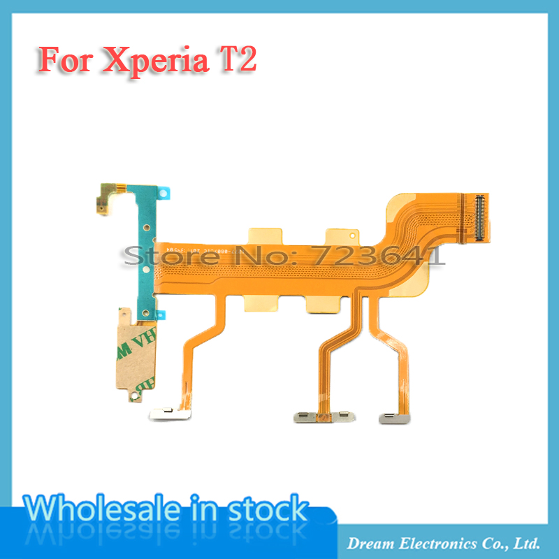 Flex-Cable D5322 Ultra-Xm50h Microphone Volume-Side-Button Power Sony Xperia for T2 D5303