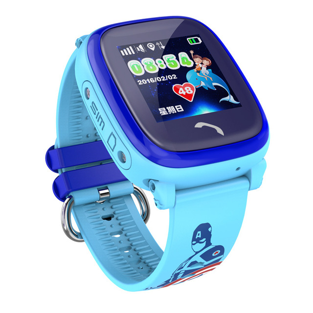 DF25 Children GPS Phone smart watch baby watch Swim IP67 Waterproof SOS Call Location Device Tracker Kids Safe Anti-Lost Monitor 5