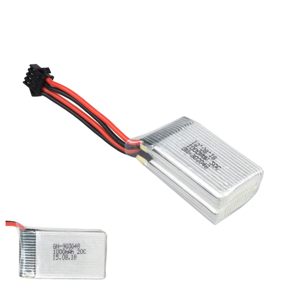 1pcs Rc Lipo Battery 7.4V 1000mAh 20C 2S Li-Po Battery SM plug for Udi U818S U842 RC Helicopter Quadcopter four axis aircraft lithium battery accessories for udi u842 u842 1 u818s helicopter 3pcs battery and 6 in 1 charger