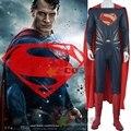 2017 Супермен косплей костюм для взрослых Бэтмен v Супермен эра Правосудия косплей костюм супермена костюм кожа