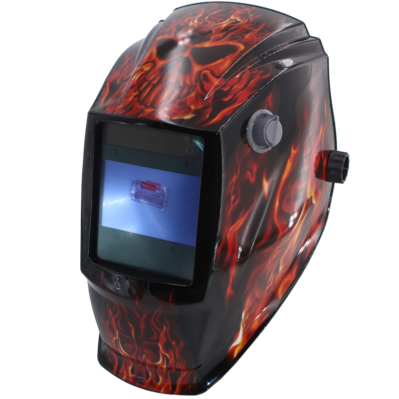 Fire skull Out control Big view eara 4 arc sensor Solar auto darkening TIG MIG MMA welding mask/helmet/welder cap/lens/face mask
