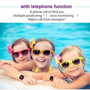 Image 4 - Fa23 relógio inteligente do bebê ip67 à prova dip67 água crianças cartão sim tela de toque gps wifi sos rastreador crianças despertador anti perdido smartwatch