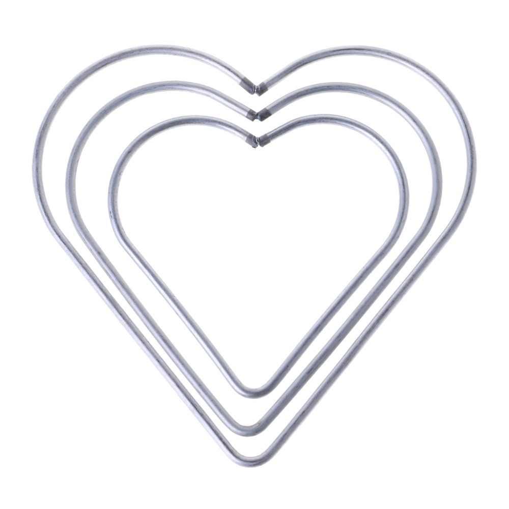 8 см/10 см/11,5 см в форме сердца металлическая серебряные серьги-гвоздики Богемия кольцо макраме ремесло обруч аксессуары «сделай сам»; 3 размера;