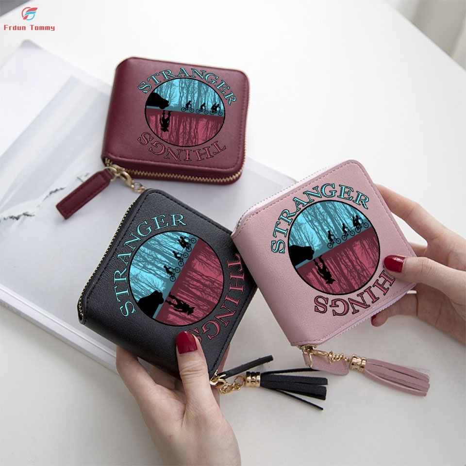 Stranger Things Printing Easy Matching Wallets Lovely Wallet Women Mini Purse Accessories Short Zipper Card Bags Lady Wallets