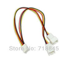1pcs NEW 12V 4 Pin TO 4pin 3/4pin PC Fan Power Y Cable Splitter Extension Cable Wire 23CM