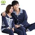 GOPLUS 2016 Otoño de algodón Par de Pijamas Set pijamas Casa Ropa Traje ropa de Dormir de Los Hombres de la Señora Ropa Casual En El Hogar de Interior feminino