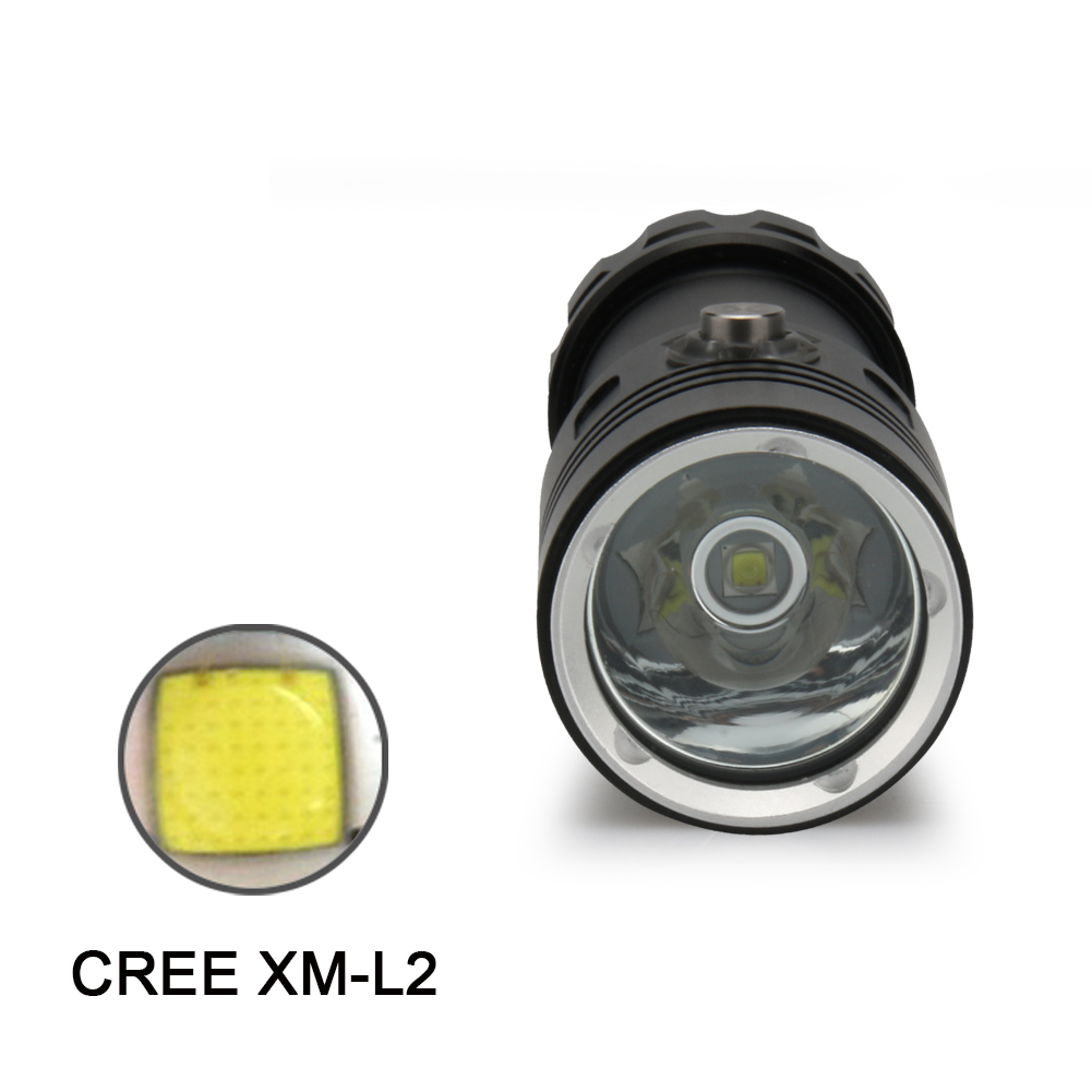 CREE XM-L2 26650 or 18650 Diving light torch Underwater 100 m led dive lanterna Spotlight power display Diver diving flashlight