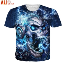 Alisister trueno T Camisa tamaño EUR hombres mujeres Hip Hop verano Camisetas 2019 Camisa Masculina mujeres Tops Tee Unisex jersey